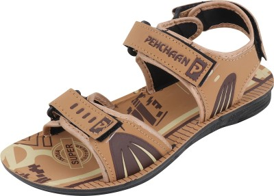 PU PEHCHAAN Men Brown Sandals  available at flipkart for Rs.198