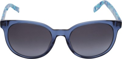 Boss Orange Round Sunglasses(Blue) at flipkart