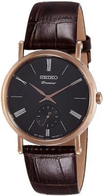 Seiko SRK040P1 Premier Analog Black Dial Men's Watch (SRK040P1)