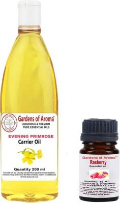 Gardens Of Aroma Rasberry 10ml And Eveninig primrose 200ml(210 ml)