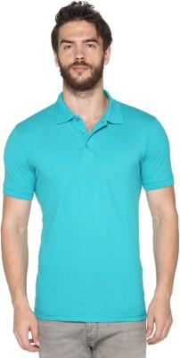HARBOR N BAY Solid Men's Polo Neck Light Blue T-Shirt