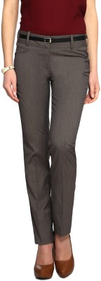 Van Heusen Slim Fit Women Brown Trousers