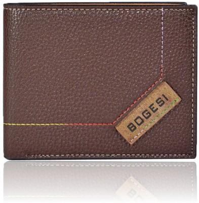 Bogesi Men Brown Artificial Leather Wallet 8 Card Slots