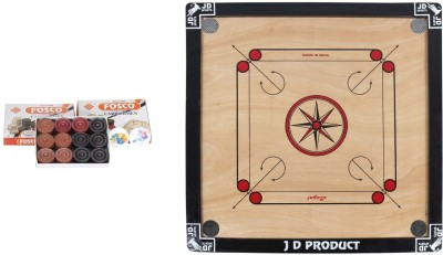 JD Sports DMEDIUM 26 inch Carrom Board(Multicolor)