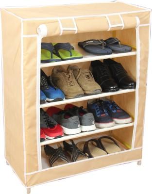 Novatic Fabric Collapsible Shoe Stand(4 Shelves) at flipkart
