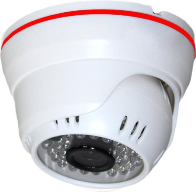 View ShopyBucket Cmos Sensor Cctv Surveillance Security Camera Day Night Vision Waterproof Outdoor/Indoor Wide Angle Lens Metal Dome Video System For Home 1.3MP Sal IP Camera Camera(White, Red) Price Online(ShopyBucket)