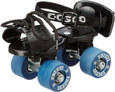 Cosco Tenacity Super Jr. (16.5 - 19.5 cm) Age Group (3 - 6 Years) Quad Roller Skates - Size 8 - 11 UK(Multicolor)