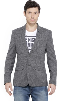 Peter England Checkered Single Breasted Casual Men
