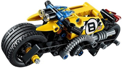 Emob Decool 140 PCS Stunt Bike Racer King Steerer Block Set with Pullback Technic(Multicolor)  available at flipkart for Rs.649