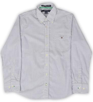 Gant Boys Striped Casual Blue Shirt at flipkart