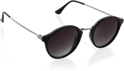 Fastrack Round Sunglasses(Black)