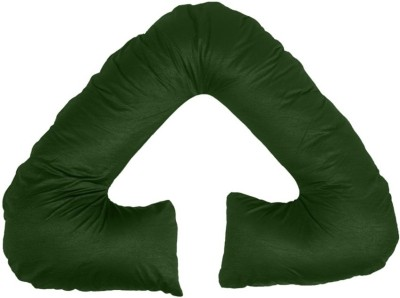 Comfort Pillow Cotton Solid Pregnancy Pillow Pack of 1(Dark Green)
