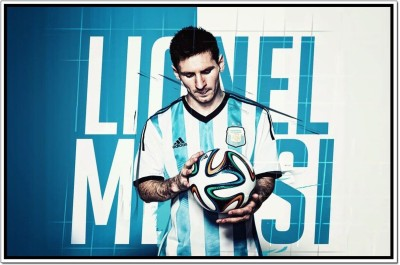 Lionel Messi Poster Poster on fine art paper 13x19 Fine Art Print(19 inch X 13 inch, Rolled)