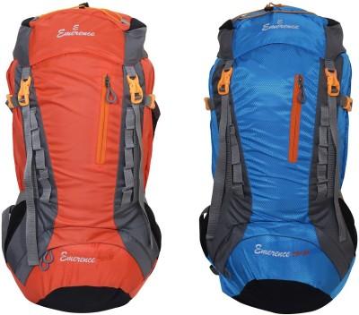 Emerence 1021 Rucksack, Hiking Backpack 75Lts (Orange & Sky Blue) Set of 2 Rucksack  - 75 L(Multicolor)