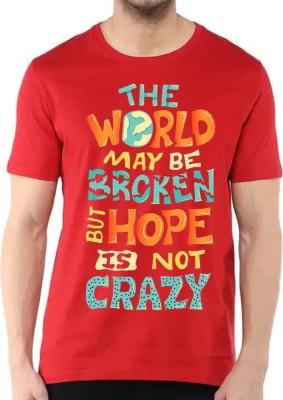 BBK Printed Men's Round Neck Red T-Shirt