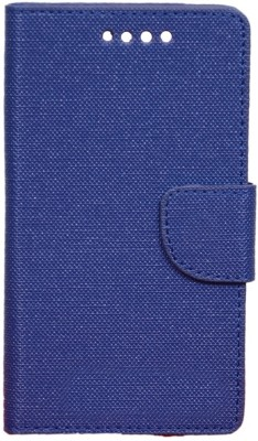 CHAMBU Flip Cover for Karbonn Quattro L55 HD(Blue, Dual Protection)
