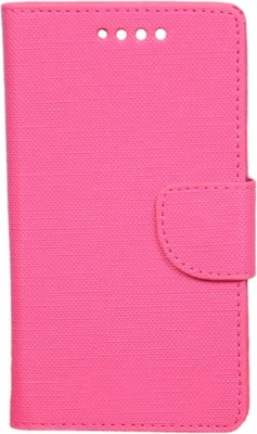 CHAMBU Flip Cover for Micromax Bolt A065(Pink, Dual Protection, Artificial Leather)