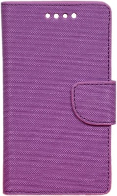 CHAMBU Flip Cover for Panasonic Eluga I3(Purple, Dual Protection)