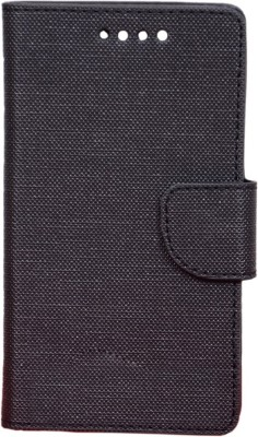 CHAMBU Flip Cover for Karbonn Quattro L55 HD(Black, Dual Protection)