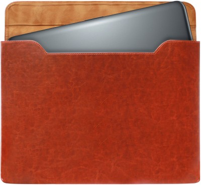 DMG Sleeve for Apple Macbook Pro Md101Hn/A 13-Inch Laptop / Hp Stream Notebook13-C019Tu 13.3-Inch Laptop(Brown, Artificial Leather)