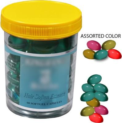 Adbeni Imported Hair Soften Essence 60 Softgel Capsules Hair Styler  available at flipkart for Rs.299
