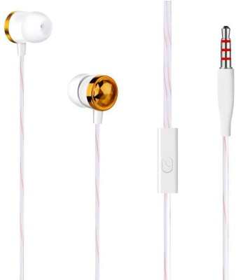 Edfigo EDF-31 Wired Wired Headset with Mic(Golden, In the Ear)