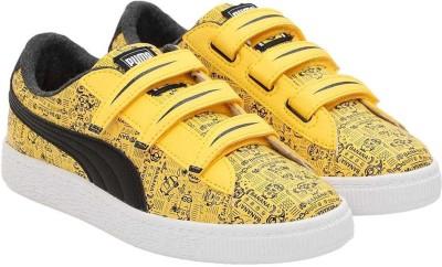Puma Boys & Girls Velcro Sneakers(Yellow) at flipkart