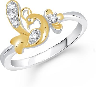 Divastri Mayur Alloy 18K Yellow Gold Plated Ring