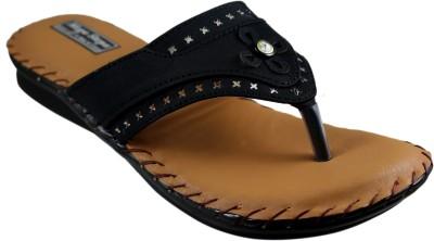 Mega Steps Women Black Flats