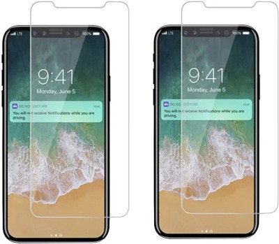 Chappie Moustache Tempered Glass Guard for Apple iPhone X(Pack of 2) at flipkart
