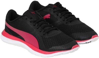 Puma FlexT1 Wn Walking Shoes For Women(Black, Pink) at flipkart