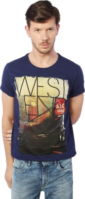 Allen Solly Printed Men Round Neck Dark Blue T-Shirt  available at flipkart for Rs.540