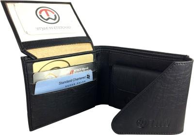 SA Enterprises Men Black Artificial Leather Wallet 3 Card Slots SA Enterprises Wallets