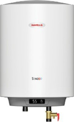 Havells 10 L Storage Water Geyser (Senzo, White)