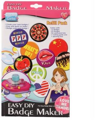 Totally Girlie Badge Maker Refill