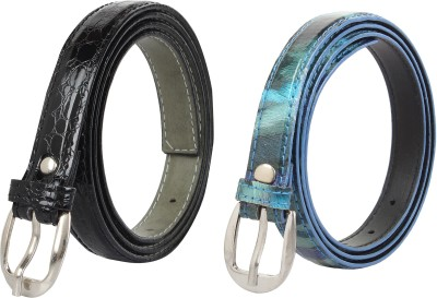 Styles Creation Women Casual, Party Black, Blue Artificial Leather Belt