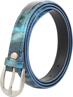 Styles Creation Women Casual, Party, Evening Blue Artificial Leather Belt