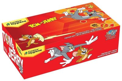 Creative Hygiene Creative Hygiene Tom & Jerry Facial Tissue Paper 2 Ply 200 Pull (200 Sheet) Per Box.(Pack of 400)  available at flipkart for Rs.144