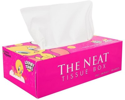 Creative Hygiene Creative Hygiene Loony Tunes Facial Tissue Paper Box 2 Ply 100 Pulls(Pack of 200)  available at flipkart for Rs.69