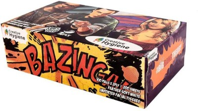 Creative Hygiene Creative Hygiene The Big Bang Theory Facial Tissue Paper Box 2 Ply 100 Pulls(Pack of 200)  available at flipkart for Rs.73