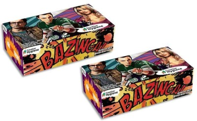 Creative Hygiene Creative Hygiene The Big Bang Theory Facial Tissue Paper Box 2 Ply 100 Pulls Pack Of 2(Pack of 400)  available at flipkart for Rs.146