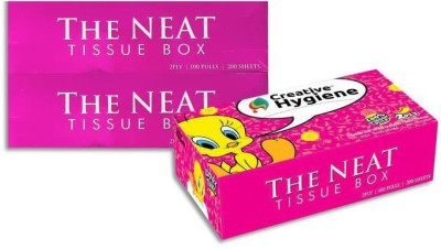 Creative Hygiene Creative Hygiene Loony Tunes Facial Tissue Paper Box 2 Ply 100 Pulls Pack Of 3(Pack of 600)  available at flipkart for Rs.190