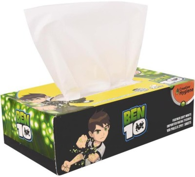 Creative Hygiene Creative Hygiene BEN-10 Facial Tissue Paper Box 2 Ply 100 Pull(Pack of 200)  available at flipkart for Rs.69