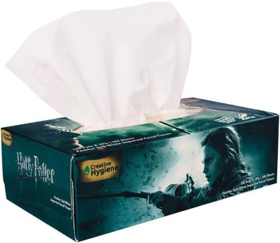 Creative Hygiene Creative Hygiene Harry Potter Facial Tissue Paper Box 2 Ply 100 Pulls(Pack of 200)  available at flipkart for Rs.73