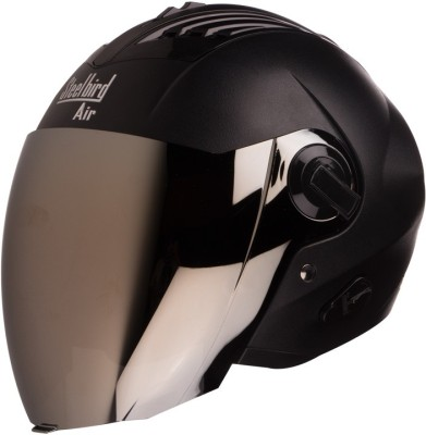 Steelbird AIR SBA-3 Dashnig Motorbike Helmet(Black with Silver Visor)