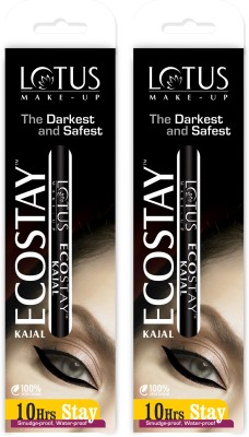 Lotus Herbals Ecostay Kajal (Black, 10GM, Pack of 2)
