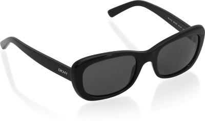 DKNY Rectangular Sunglasses(Black) at flipkart