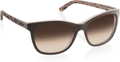 DKNY Rectangular Sunglasses(Brown) at flipkart