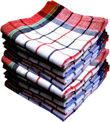 K.S. Collection Big Size Premium Duster Kitchen Napkin Cotton 200 GSM Bath Towel(Pack of 10)