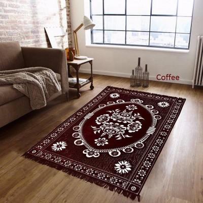 Home Style Multicolor Velvet Carpet(154 cm  X 215 cm)